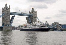 Die «Prince Albert II» der Reederei Silversea Cruises in London. Foto: Silversea Cruises