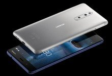 Das Nokia 8 wird unter anderem in der Farbe Steel erhältlich sein. Außerdem kommt es in Polished Blue, Tempered Blue und Polished Copper auf den Markt. Foto: HMD Global/dpa-tmn